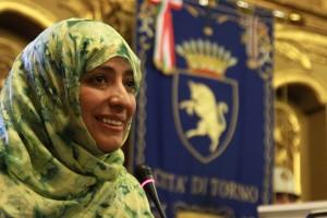Palazzo Civico, Sala Rossa, consegna della cittadinanza onoraria a Tawakul Karman. Fotografia Redazione web - www.comune.torino.it© Comune di Torino