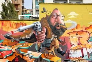 ENCS, murale senza titolo, 2018, giardini Firpo, corso Dante. Fotografia di Roberto Cortese, 2018 © Archivio Storico della Città di Torino
