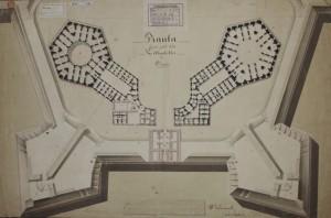 Pianta dei nuovi quartieri progettati per la Cittadella, Istituto Storico e di Cultura dell'Arma del Genio di Roma FT037/B2466.