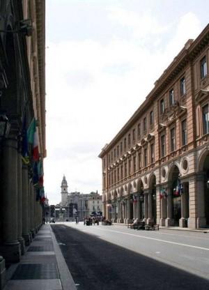 Via Roma pedonalizzata. Fotografia di Nicole Mulassano, 2015