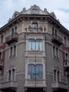 Pietro Fenoglio, Casa Padrini, 1905, particolare del bow-window. Fotografia L&M, 2011.