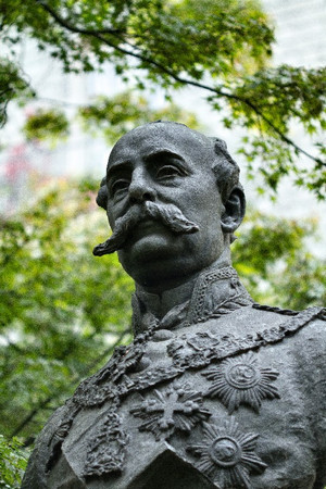 Odoardo Tabacchi, Monumento a Salvatore Pes di Villamarina (particolare del busto), 1887. Fotografia di Mattia Boero, 2010. © MuseoTorino.