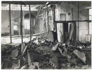 Via San Massimo. Ospedale San Giovanni. Effetti prodotti dal bombardamento dell'incursione aerea del 28 novembre 1942. UPA 2202_9B06-59. © Archivio Storico della Città di Torino