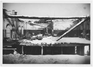 Via Giovanni Giolitti (già Mario Gioda). Ospedale San Giovanni. Effetti prodotti dal bombardamento dell'incursione aerea del 28 novembre 1942. UPA 2065_9B05-62. © Archivio Storico della Città di Torino