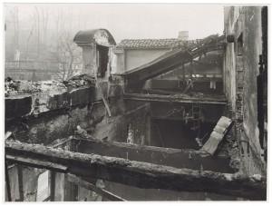 Villa della Regina. Effetti prodotti dal bombardamento dell'incursione aerea del 20-21 novembre 1942. UPA 2202_9B06-31. © Archivio Storico della Città di Torino
