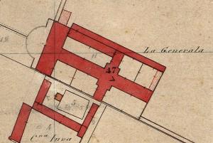 Cascina Generala. Catasto Rabbini, 1866. © Archivio di Stato di Torino