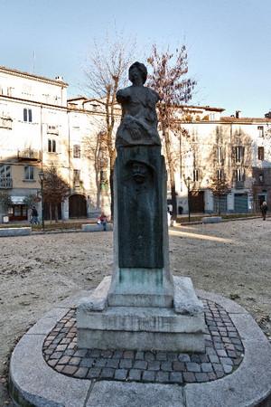 Edoardo Rubino, Statua di Casimiro Teja, 1903. Fotografia di Mattia Boero, 2010. © MuseoTorino.