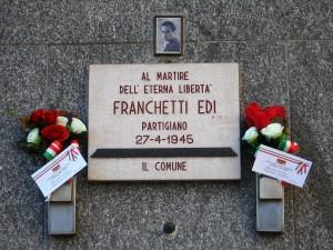 Lapide dedicata a Edi Franchetti