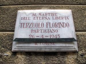 Lapide dedicata a Florindo Terzuolo (1914 - 1945)