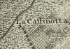 Cascina Chiabotto Quaglia.Michele Antonio Boglione, Disegno dei confini territoriali tra la città, Gonzole, Borgaretto e Beinasco, 1785, © Archivio Storico della Città di Torino