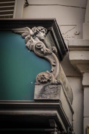 Arbiter, particolare della vetrina in ghisa, 2017 © Archivio Storico della Città di Torino