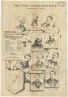 Teatro d'Angennes. Venticinquesimo anniversario della fondazione del Teatro piemontese. Litografia di A. Tommasi. © Archivio Storico della Città