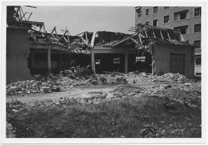 Via Francesco Millio 51-59, FERGAT  Soc. An., fabbrica ruote e radiatori per autoveicoli. Effetti prodotti dai bombardamenti dell'incursione aerea del 4 giugno 1944. UPA 4614_9E06_54. © Archivio Storico della Città di Torino