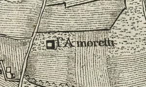 Cascina Amoretti. Carta topografica dimostrativa dei contorni della Città di Torino, 1785. ©Archivio Storico della Città di Torino