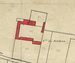 Cascina Falchera. Catasto Rabbini, 1866.© Archivio di Stato di Torino
