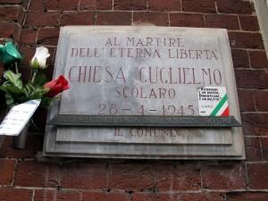 Lapide dedicata a Guglielmo Chiesa (1932 - 1945)