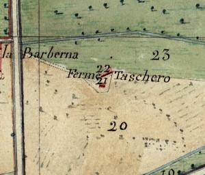 Cascina Spinetta, già Taschero. Catasto Napoleonico, 1805, ©Archivio di Stato di Torino.
