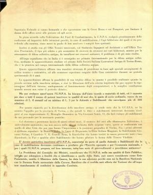 Unione Nazionale protezione Antiaerea. Bandiera dell'UNPA, pagina 2 di 2. ASCT, Miscellanea sicurezza pubblica 58. © Archivio Storico della Città di Torino