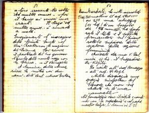 Diario dell'Istituto Lorenzo Prinotti, 1940. ASCT, Fondo Prinotti cart. 31 fasc. 11, 9, pp. 83-84. © Archivio Storico della Città di Torino