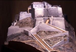 Plastico del forte di Exilles nel 1743. Immagine tratta da depliant pubblicato dal CeSRAMP.