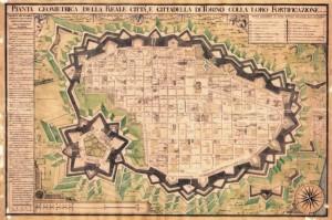 Ignazio Amedeo Galletti, Pianta di Torino, 1790. © Archivio Storico della Città di Torino