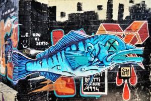 Autore non identificato, murale senza titolo , 2018, Parco Dora. Fotografia di Roberto Cortese, 2018 © Archivio Storico della Città di Torino