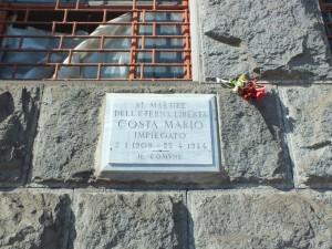 Lapide in memoria di Mario Costa sul palazzo della Borsa Valori. Fotografia di Paola Boccalatte, 2014. © MuseoTorino