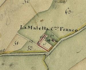 Cascina Maletta. Catasto Gatti, 1820-1830. © Archivio Storico della Città di Torino
