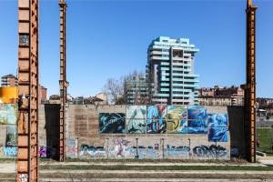 Artisti vari, murales senza titolo, 2012, Parco Dora
