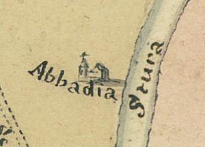 Abbadia di Stura. Pianta di Torino e dintorni, 1770. © Archivio Storico della Città di Torino