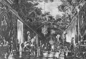 Carlo Bossoli, L'allestimento dell'Armeria, 1853. Fotografia tratta da Caldera, Guerrini, Vitulo, L'Armeria Reale, la Biblioteca Reale, Allemandi, Torino, 2008