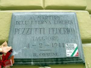Lapide dedicata a Pezzetti Federico (1900 - 1944)