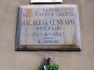 Lapide dedicata a Bagaglia Gennaro (1928 - 1945)