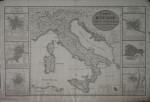 Carta geografica d'Italia con le piante delle principali città, tra cui Torino (1816)