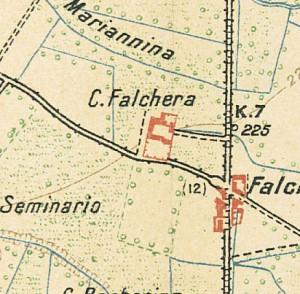 Cascina Falchera. Istituto Geografico Militare, Pianta di Torino e dintorni, 1911. © Archivio Storico della Città di Torino