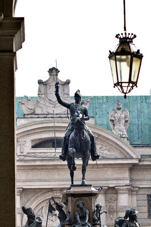 Carlo Marocchetti, Monumento a Carlo Alberto (particolare), 1856-1860. Fotografia di Mattia Boero, 2010. © MuseoTorino.