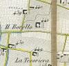 Cascina Borello. Topografia della Città e Territorio di Torino, 1840. © Archivio Storico della Città di Torino
