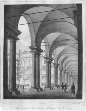 Carlo Sciolli, Interno dell'Accademia, 1836. Archivio Storico della Città di Torino, Collezione Simeom. © Archivio Storico della Città di Torino
