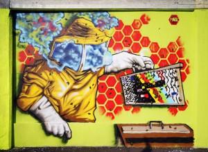 Artisti vari, 2018, via Valdellatorre/via Sansovino/corso Molise. Fotografia di Roberto Cortese, 2018 © Archivio Storico della Città di Torino