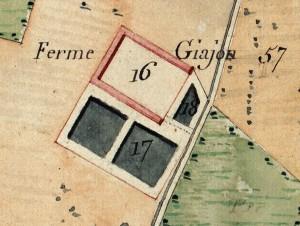 Cascina Giajone. Catasto Napoleonico, 1805. © Archivio di Stato di Torino