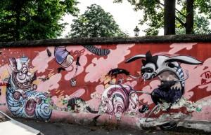 Artisti vari, murale senza titolo, 2006, via Borgosesia