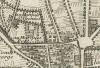 Cascina Rivagagliarda e cascina San Tommaso. Gaspard Baillieu, Plan de la Ville et Citadelle de Turin, 1705. © Archivio Storico della Città di Torino