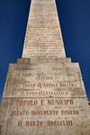 Luigi Quarenghi, Obelisco alle leggi Siccardi (iscrizione), 1853. Fotografia di Mattia Boero, 2010. © MuseoTorino