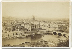 Ponte Vittorio Emanuele, piazza Vittorio e Mole Antonelliana in costruzione. © Archivio Storico della Città di Torino