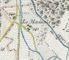 Cascina Lamarmora. Antonio Rabbini, Topografia della Città e Territorio di Torino, 1840. © Archivio Storico della Città di Torino