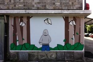 XEL, murale senza titolo, 2016, via delle Querce. Fotografia di Roberto Cortese, 2017 © Archivio Storico della Città di Torino