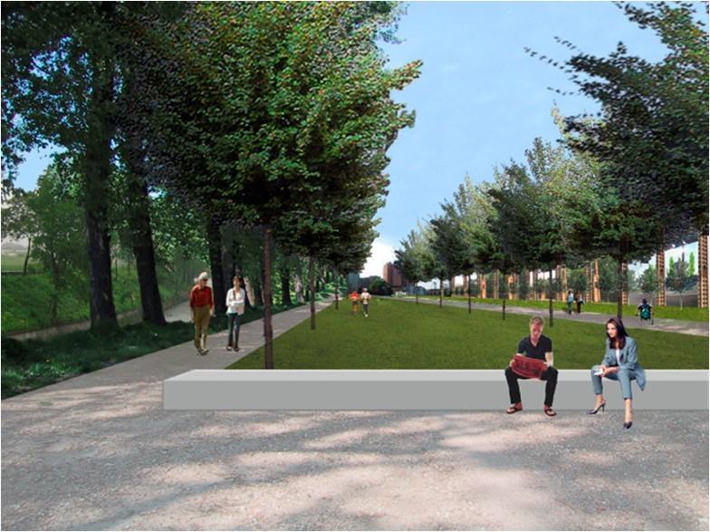 Parco dora museotorino for Rendering giardino