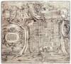 Giovanni Criegher, su disegno di Giovanni Caracca, Pianta prospettica della città e cittadella di Torino, 1572. Biblioteca Reale di Torino, Incisioni, III 16.©Biblioteca Reale di Torino