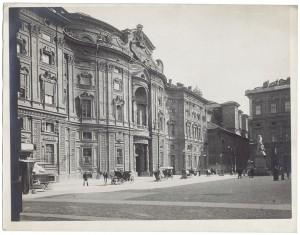 Palazzo Carignano. Fotografia di Giancarlo Dall'Armi, 1911-1928. © Archivio Storico della Città di Torino