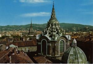 Cappella della Santa Sindone, cupola. Cartolina.